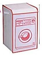 Wasmand wasmachine model rood