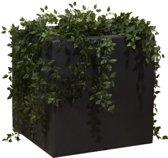 Enjoyplanters Enjoyplanter Polyester plantenbak Velvet 50x50x50 cm | Antraciet-zwart