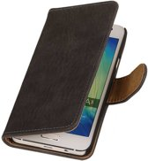 Wicked Narwal   Bark bookstyle / book case/ wallet case Hoes voor Samsung Galaxy A3 (2016) A310F Grijs