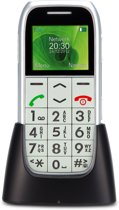 Profoon PM-595 Big Button GSM | Met alarmknop en oplaadstation | Zilver