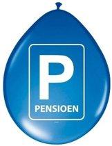 24x Pensioenfeest ballonnen blauw - Feestartikelen