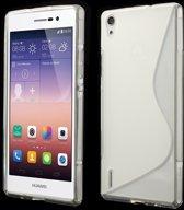 Huawei Ascend P7 TPU Case S-shape Transparant