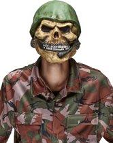 Doodskop soldaat masker voor volwassenen Halloween - Verkleedmasker