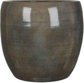 Mica Decorations - lester ronde pot donkergrijs - maat in cm: 35 x 38