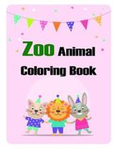 Zoo Animal Coloring Book: Christmas Coloring Pages with Animal, Creative Art Activities for Children, kids and Adults
