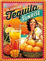 Muurplaatje Tequila Sunrise 15 x 20 cm