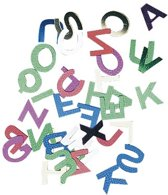 Gekleurde letter pailletten 6 mm 400 stuks