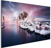 Lofoten Noorwegen  Aluminium 90x60 cm - Foto print op Aluminium (metaal wanddecoratie)