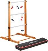 Laddergolf Set - Rode & Gele bolas - uit de USA, professionele set met echte golfballen in stevige transporttas