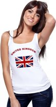 Witte dames tanktop United Kingdom XL