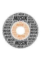 Musik: Notizblock - Notizbuch - DIN A5, 120 Seiten - Gepunket, dotted, punktkariert, dot grid - Notizen, Termine, Planer, Tag