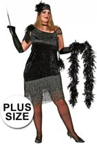 Grote maten Charleston jurk 46 (3xl)