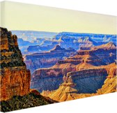 Uitzicht over Grand Canyon Canvas 80x60 cm - Foto print op Canvas schilderij (Wanddecoratie)