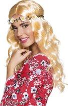 Lange blonde pruik met hoofdband voor vrouwen - Verkleedpruik