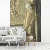 Fotobehang vinyl - De benen van David - Schilderij van Jozef Israëls breedte 190 cm x hoogte 260 cm - Foto print op behang (in 7 formaten beschikbaar)