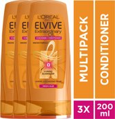 L'Oréal Paris Elvive Extraordinary Oil Conditioner - 3x 200ml - Voordeelverpakking