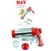 Garneerspuit - Koekjespers - Day Useful Everyday - Cookie press set - Koekjes maken - Multifuntioneel - 8 Koekjesvormen - 8 Spuitmondjes - Roestvrij staal