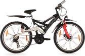 "Ks Cycling Fiets 24"" kindermountainbike (ATB) 4 Masters met 21 versnellingen zwart - 42 cm"