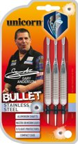 Unicorn Bullet Gary Anderson P1 Stainless Steel 22 gram Dartpijlen
