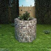 vidaXL Zeshoekige schanskorf plantenbak 100x90x100 cm