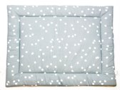 Briljant Baby boxkleed - spots stone green 80x100 cm