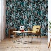 Fotobehang Modern Tropical Pattern   V4 - 254cm x 184cm   130gr/m2 Vlies