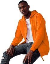 Oranje vest/jasje met capuchon voor heren - Holland feest kleding - Supporters/fan artikelen 2XL (46/56)