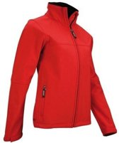 Avento Softshell Jack Dames Rood Maat M