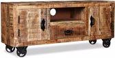 Tv-meubel ruw mangohout 120x30x50 cm