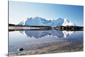 Kangia-ijsbergen in IJsfjord van Ilulissat Aluminium 60x40 cm - Foto print op Aluminium (metaal wanddecoratie)