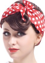Kastanjebruine Pin-up pruik voor vrouwen - Verkleedpruik - One size