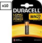 10 Stuks (10 Blisters) - Duracell MN27 27A 12v batterij