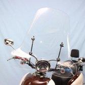 Windscherm o.a. Fiora Ancona, Novara, Boatian, Znen, Fosti Retro, AGM Retro, Joy. Hoog model 70cm. 4mm. dik, incl. verzwaarde bevestiging set en montage handleiding-Scoot Care Original.