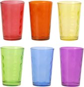 Excellent Houseware Multicolor drinkglazen - 6 stuks - OP = OP