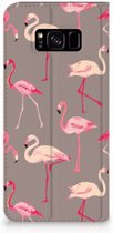 Samsung Galaxy S8 Plus Uniek Standcase Hoesje Flamingo