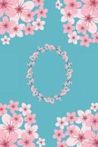 O Monogram Letter O Cherry Blossoms Journal Notebook