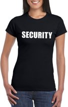 Security tekst t-shirt zwart dames M