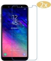 2 Stuks Pack Samsung Galaxy A6 (2018) Screenprotector Tempered Glass Glazen Gehard Transparant 9H 2.5D - van iCall