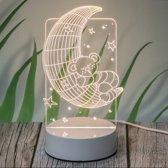 Baby-Kind Nachtlamp-LED-Beer op virtuele maan/Nachtrust/Babykamer-Sfeerbelichting-Veilig