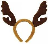 Rendier diadeem bruin 3 stuks - kerst