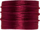 Satijnkoord (2 mm) Burgundy Red (15 Meter)
