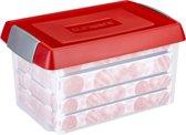 Sunware Nesta Kerst Opbergbox 60L - met verhoogd deksel - trays voor 112 kerstballen