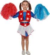 Carnavalskleding Cheerleader USA meisje Maat 140
