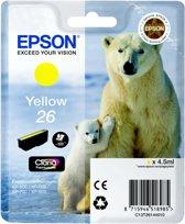 Epson 26 (T2614) - Inktcartridge / Geel
