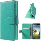 Samsung Galaxy S4 Portemonnee Hoesje Case Turquoise