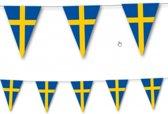 Landen thema versiering Zweden vlaggenlijn / slingers 3,5 meter