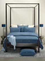 De Witte Lietaer Snow - Flanel - Dekbedovertrek - Lits-jumeaux - 240x200/220 cm + 2 kussenslopen 60x70 cm - Nightshadow Blue