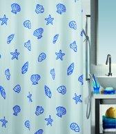 Spirella Concha - Douchegordijn - Blauw - Polyester - 200 x 180 cm