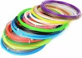 Filamenten/Vullingen voor 3D Printer Pen (180 meter, 18 kleuren elk 10m, 1.75mm PLA)