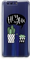Honor 9 Transparant Hoesje (Soft) - Hey you cactus